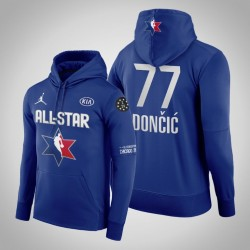 Männer Luka Doncic Dallas Mavericks und 77 Navy 2020 NBA All-Star Game Western Conference Verein Fleece Pullover Hoodie