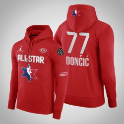 Männer Luka Doncic Dallas Mavericks und 77 Red 2020 NBA All-Star Game Western Conference Verein Fleece Pullover Hoodie