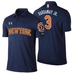 Männer Tim Hardaway Jr. New York Knicks und 3 Stadt Ausgabe Navy Spieler Performance Polo
