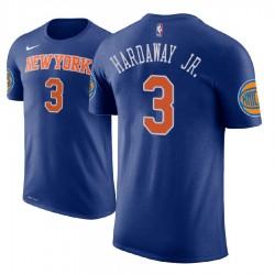 Männer Tim Hardaway Jr. New York Knicks # 3 Icon Ausgabe Königs Name # Nummer Spieler T-Shirt