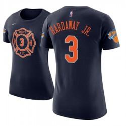 Frauen Tim Hardaway Jr. New York Knicks und 3 Stadt Ausgabe Navy Name # Nummer Spieler T-Shirt