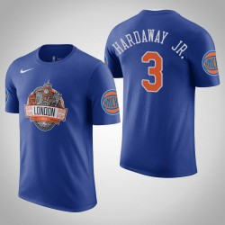 Männer Tim Hardaway Jr. New York Knicks # 3 Royal 2019 London Spiel-T-Shirt
