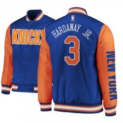Männer Tim Hardaway Jr. New York Knicks und 3 Royal Satin Voll Snap-Jacke
