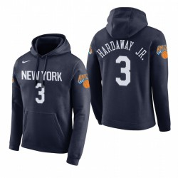 Männer Tim Hardaway Jr. New York Knicks # 3 Navy 2018 Stadt Ausgabe Hoodie