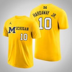 Tim Hardaway Jr. Männer NCAA Michigan Wolverines # 10 Maize Basketball-Leistungs-T-Shirt