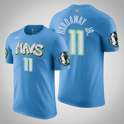 Dallas Mavericks und 11 Tim Hardaway Jr. City Blue 2020 Saison Name # Nummer T-Shirt