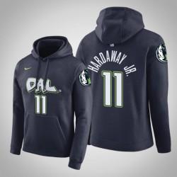 Dallas Mavericks und 11 Tim Hardaway Jr. Stadt Navy 2020 Saison PulloverHoodie