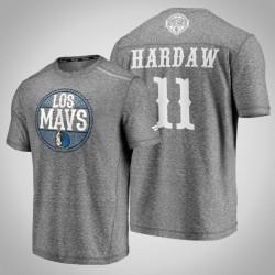 Mavericks Tim Hardaway Jr. # 11 Latino Heritage Nacht Clutch Shooting meliertes Grau-T-Shirt