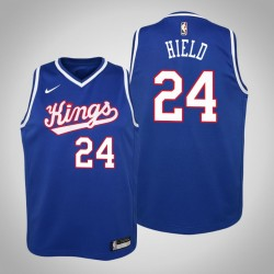 Jugend Buddy Hield Sacramento Kings & 24 Holz Classics Königs 2020 Jahreszeit Jersey