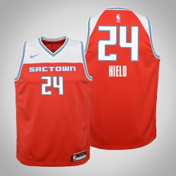 Jugend Buddy Hield King & 24 Ort Red 2020 Saison Jersey