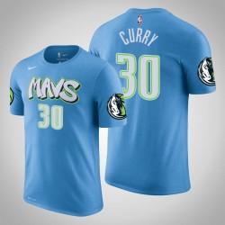 Dallas Mavericks und 30 Seth Curry City Blue 2020 Saison Name & Nummer T-Shirt