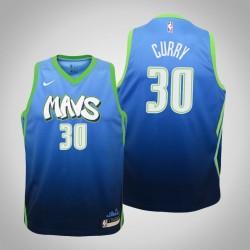 Jugend Seth Curry Mavericks & 30 City Blue 2020 Jahreszeit Jersey