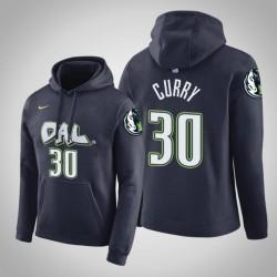 Dallas Mavericks und 30 Seth Curry Stadt Navy 2020 Jahreszeit PulloverHoodie