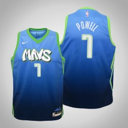 Jugend Dwight Powell Mavericks & 7 City Blue 2020 Jahreszeit Jersey