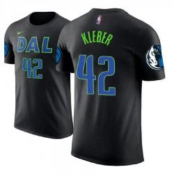 Herren Maxi Kleber Dallas Mavericks und 42 Schwarz Stadt Name # Nummer T-Shirt