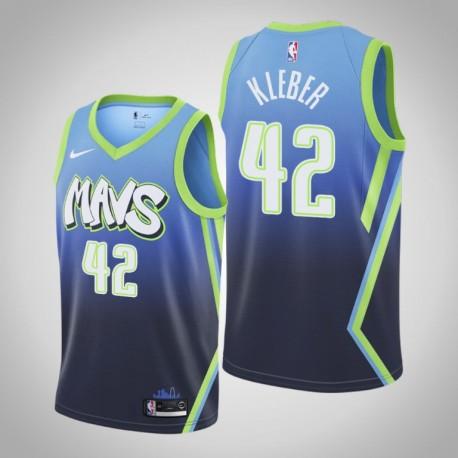 2019-20 Mavericks Maxi Kleber & 42 Blue City Jersey