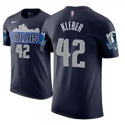 Herren Maxi Kleber Dallas Mavericks und 42 Navy Statement Name # Nummer T-Shirt