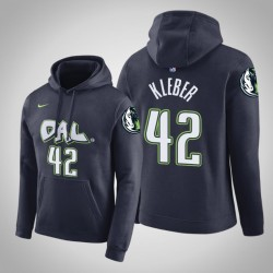Dallas Mavericks und 42 Maxi Kleber Stadt Navy 2020 Saison PulloverHoodie