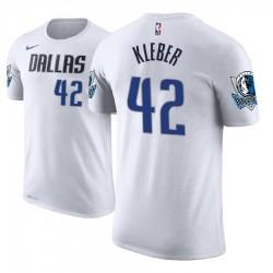 Herren Maxi Kleber Dallas Mavericks und 42 Weiß Verband Name # Nummer T-Shirt