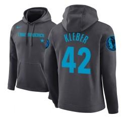 Männer Maxi Kleber Dallas Mavericks # 42 Grey 2018 Stadt Ausgabe Hoodie