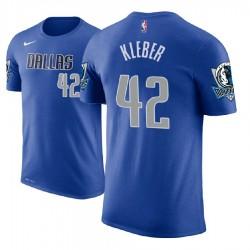 Herren Maxi Kleber Dallas Mavericks # 42 blaue Symbol Name # Nummer T-Shirt