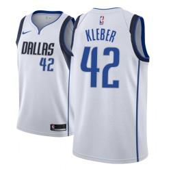 Männer NBA 2018-19 Maxi Kleber Dallas Mavericks und 42 Verband Weiß Trikot