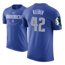 Männer Maxi Kleber Dallas Mavericks und 42 Blau Praxis Wesentliches T-Shirt
