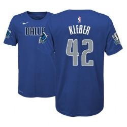 Jugend 2018-19 Maxi Kleber Dallas Mavericks & 42 Icon Edition Blue Name & Nummer T-Shirt