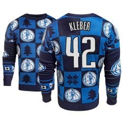 Männer Maxi Kleber Dallas Mavericks und 42 Blau 2018 Weihnachten Sweater