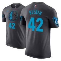 Männer Maxi Kleber Dallas Mavericks und 42 Stadt Ausgabe Anthrazit Name & Nummer T-Shirt