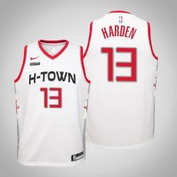 Jugend James Harden Rockets & 13 Stadt Weiß 2020 Jahreszeit Jersey
