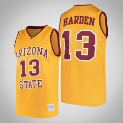 NCAA James Harden Arizona State Sun Devils & 13 Gold Alumni College Basketball Jersey