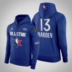 Männer James Harden Houston Rockets & 13 Navy 2020 NBA All-Star Game Western Conference Verein Fleece Pullover Hoodie