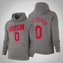 Houston Rockets # 0 Russell Westbrook Hartholz-Klassiker Grau 2020 Jahreszeit PulloverHoodie