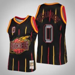 Rockets Russell Westbrook # 0 Schwarz Ring-Sammlung Swingman Mitchell # Ness Jersey