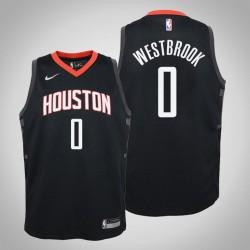 Jugend Russell Westbrook Houston Rockets # 0 Statement Schwarz Jersey