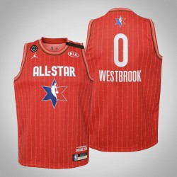 Jugend Houston Rockets Russell Westbrook # 0 Red 2020 NBA All-Star Game Jersey