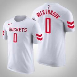 Männer Russell Westbrook Houston Rockets # 0 Verband Weiß Name # Nummer T-Shirt