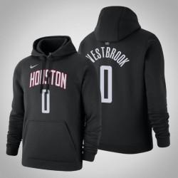 Houston Rockets # 0 Russell Westbrook Statement Schwarz 2020 Saison PulloverHoodie