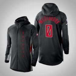 Männer Rockets Russell Westbrook # 0 verdient Schwarz 2020 Saison Showtime Hoodie