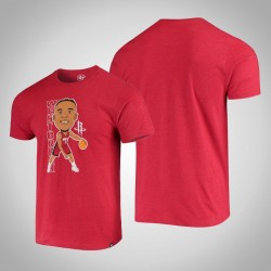 Rockets Russell Westbrook # 0 Grafik Bobblehead melierte Rot-T-Shirt