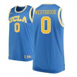 Russell Westbrook Männer NCAA UCLA Brins # 0 Blau Basketball Performance-Trikot