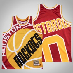 Männer Rockets Russell Westbrook # 0 Red Big Gesicht Swingman Mitchell # Ness HWC Trikot