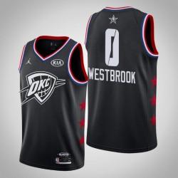 2019 NBA All-Star-Männer Oklahoma City Thunder Russell Westbrook # 0 Schwarz Swingman Trikot