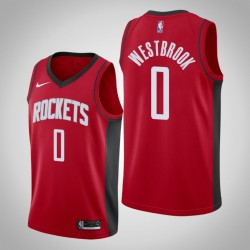 Männer Houston Rockets Russell Westbrook & 0 Red Icon Jersey