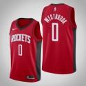 Männer Houston Rockets Russell Westbrook # 0 Red Icon Trikot
