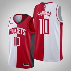 Männer Houston Rockets Eric Gordon & 10 White Red Split Jersey