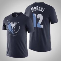 Grizzlies Ja Morant # 12-Team-Logo Wesentliche Dry-Marine-T-Shirt