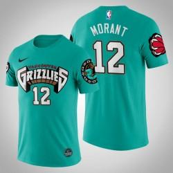 Grizzlies Ja Morant # 12 Teal 25. Saison Vancouver Throwbacks Hemd