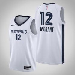 Männer Memphis Grizzlies Ja Morant # 12 Weiß Swingman 2019-20 Trikot - Verband Ausgabe